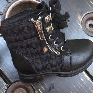 Michael Kors Signature Boots with Side Zips
